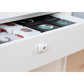 Invue drawer lock protects retail products from theft