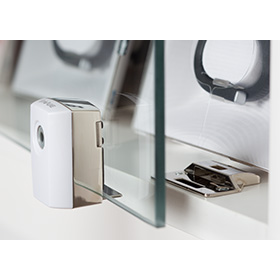 Invue showcase lock for sliding doors