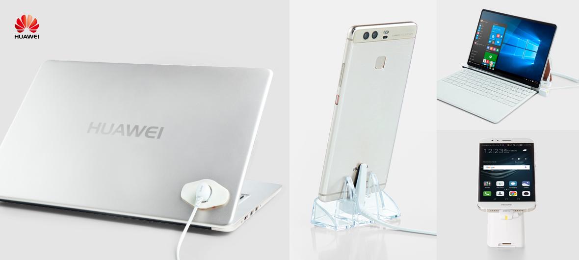 Sistema de seguridad para exposición de Huawei