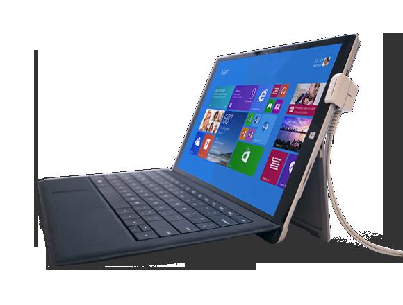 适用于展示架上笔记本电脑的防盗安全装置