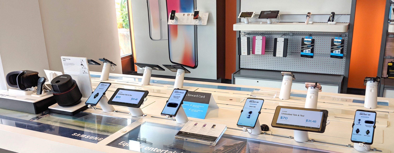 sécurité pour les magasins de téléphonie mobile